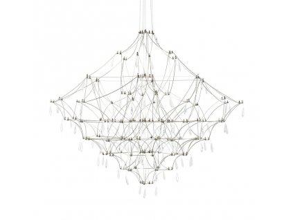 Závěsná lampa CONSTELATION 120 - LED, kartáčovaná ocel