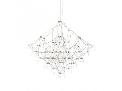 Závěsná lampa CONSTELATION 77 - LED, kartáčovaná ocel