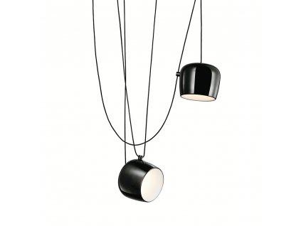 Závěsná lampa EYELET 2 černá - LED, hliník