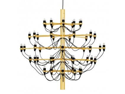Závěsná lampa GINO GOLD 100 zlatá - uhlíková ocel