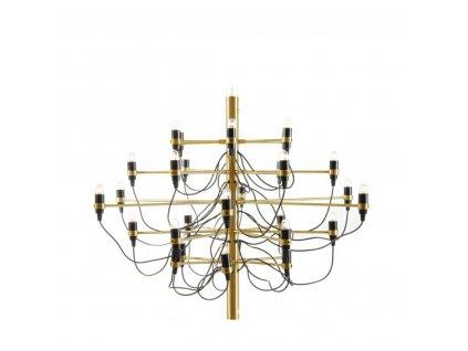 Závěsná lampa GINO GOLD 85 zlatá - uhlíková ocel