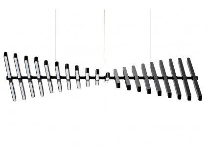 Závěsná lampa PIANO 20 černá - LED, hliník