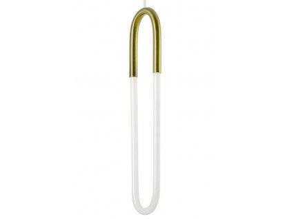 Závěsná lampa PUZO zlatá - ocel
