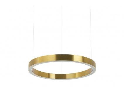 Závěsná lampa RING 40 zlatá - LED, ocel