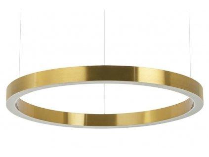 Závěsná lampa RING 80 zlatá - LED, ocel
