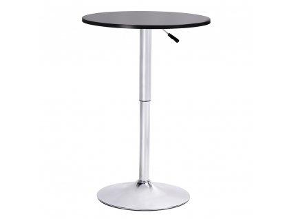 Barový stolek MOVE černý - seřízení výšky, chrom