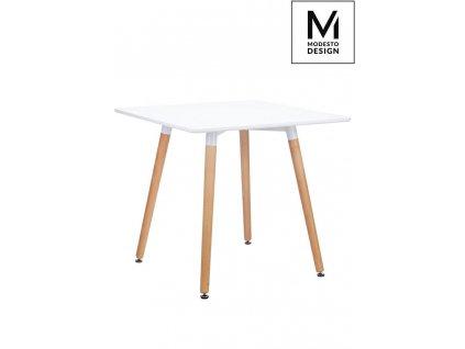 MODESTO stůl CONSUL bílý - deska MDF, dřevěná základna