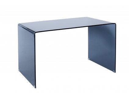 Psací stůl skleněný SCRIVA antracitový - sklo 10 mm