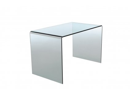 Psací stůl skleněný SCRIVA transparentní - sklo