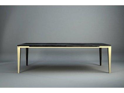 Stůl DYLE ESSENCE 001 240x100,nový tmavý dub - zlaté nohy