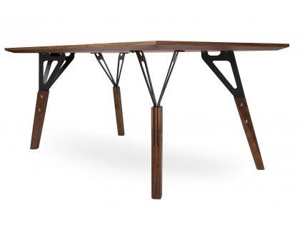 Stůl PRECISIONE americký ořech - MDF, dýha, ocel