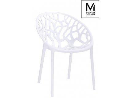 MODESTO židle KORAL bílá - polypropylén