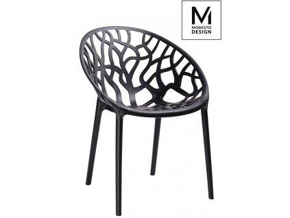 MODESTO židle KORAL černá - polypropylén