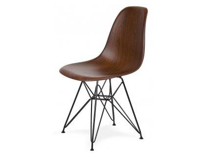 Židle DSR WOOD BLACK imitace dřeva - ABS, černá základna