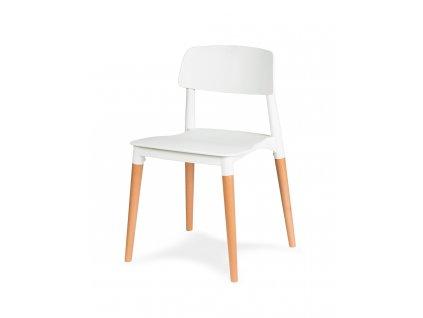 Židle ECCO PREMIUM bílá - polypropylén, buk