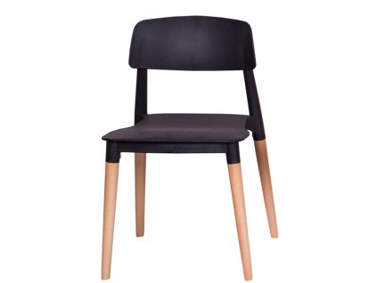 Židle ECCO PREMIUM černá - polypropylén, buk