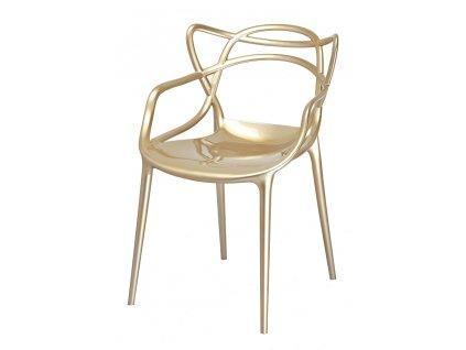 Židle LUXO zlatá - ABS