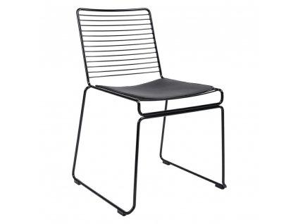 Židle ROD SOFT černá - černý polštář, kov