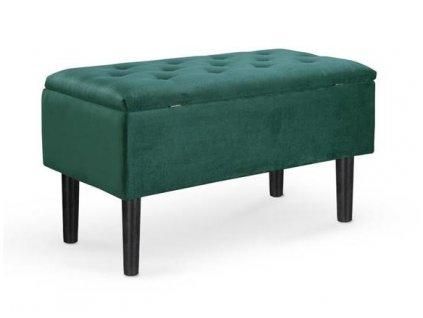 CLEO lavice s nádobou tmavě zelená