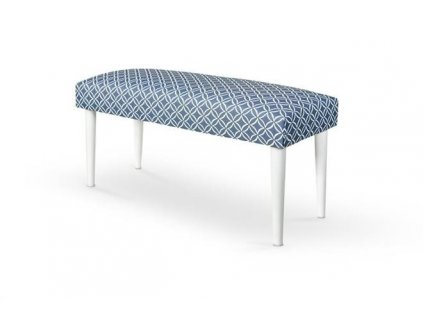 MAKARENA lavička barva modrá/bílá