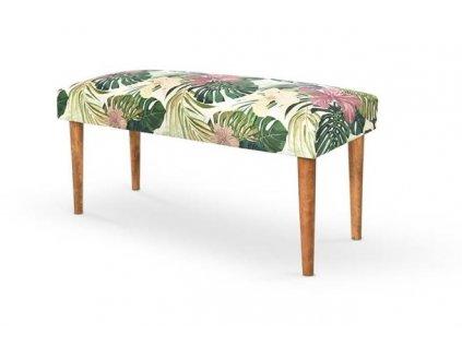 MAKARENA lavička barva zelená/ořech