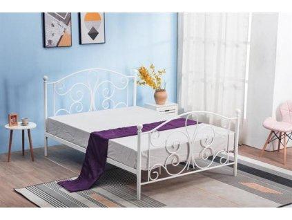 PANAMA 120 cm postel kovová bílá