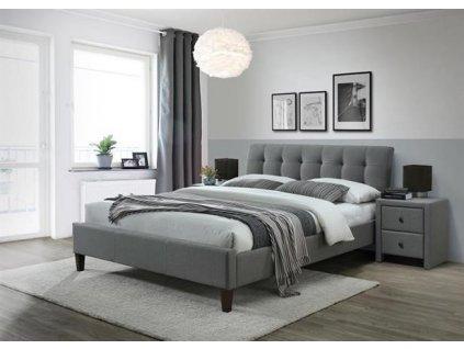 SAMARA 2 postel 160 cm látka šedá (2p=1ks.)