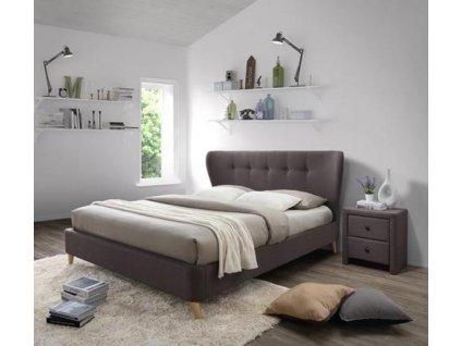 VIENA 180 cm postel hnědá