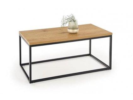 ARUBA stolek kostra - černá, deska - zlatý dub