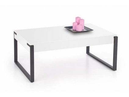 CAPRI stolek bílý / černý