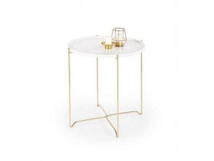 CASA stolek bílý / zlatý