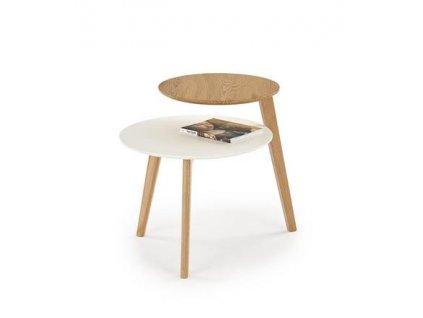 CASCADA stolek kostra - zlatý dub, deska - zlatý dub / bílá