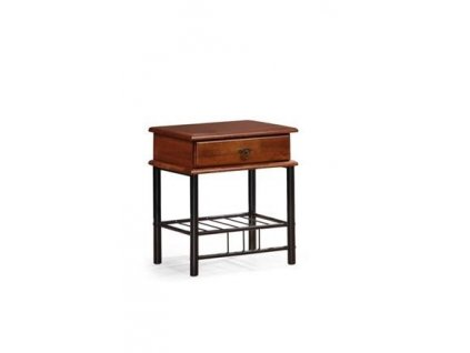 FIONA noční stolek antická třešeň/černý