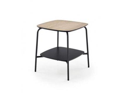 GENUA STOLEK1 stolek hranatý černý / přírodní