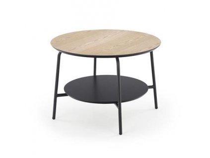 GENUA STOLEK3 stolek kulatý černý / přírodní