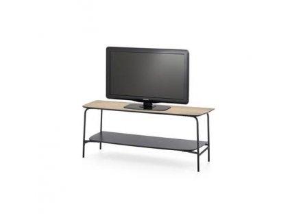 GENUA RTV1 stolek RTV černý / přírodní