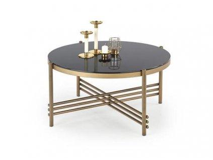 ISMENA stolek kostra - zlatá, deska - černá