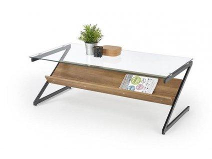 IZEDA stolek kostra - černá, police - ořechová