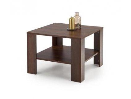 KVADRO ČTVERCOVÝ stolek barva tmavý ořech