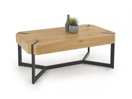 LAVIDA stolek zlatý dub / černý