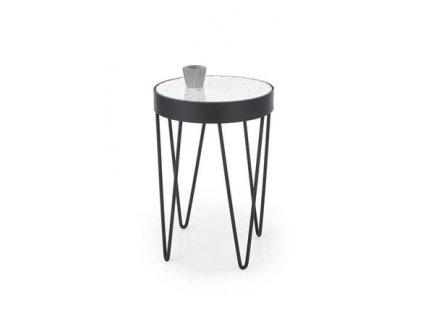 NATURO stolek bílý / černý