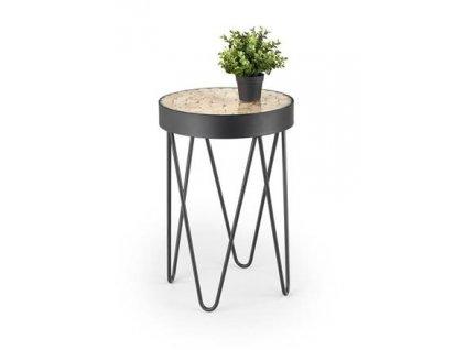 NATURO stolek přírodní / černý