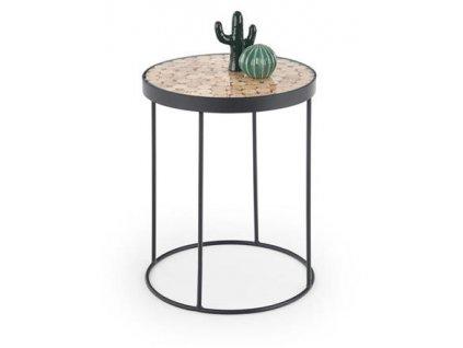 NATURO 2 stolek přírodní / černý