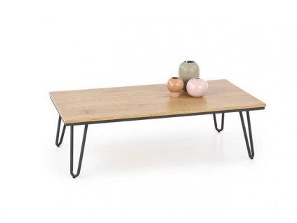 NILA stolek zlatý dub / černý