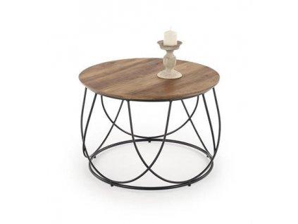 NUBIRA stolek kostra - černá, deska - ořechová