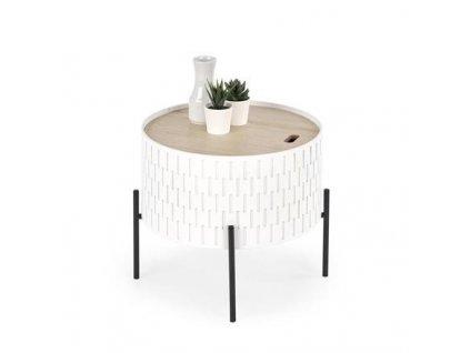 SINTRA stolek s úložným prostorem bílý / černý