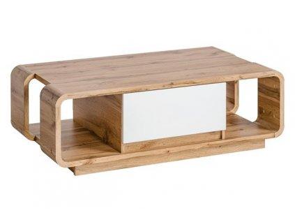 SKANSO kávový stolek k: dub WOTAN matný/ f: bílý lesk