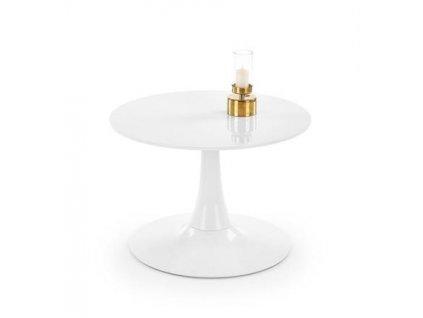 SLIMA stolek kulatý bílý