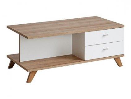 VINIE stolek k: bílý matný/ f: bílý matný/b:dub RIVIERA/z:dub RIVIERA