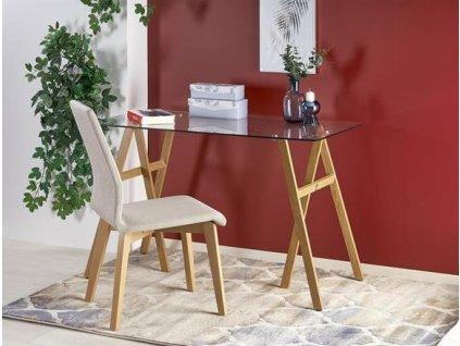 B35 psací stůl dub velbloudí